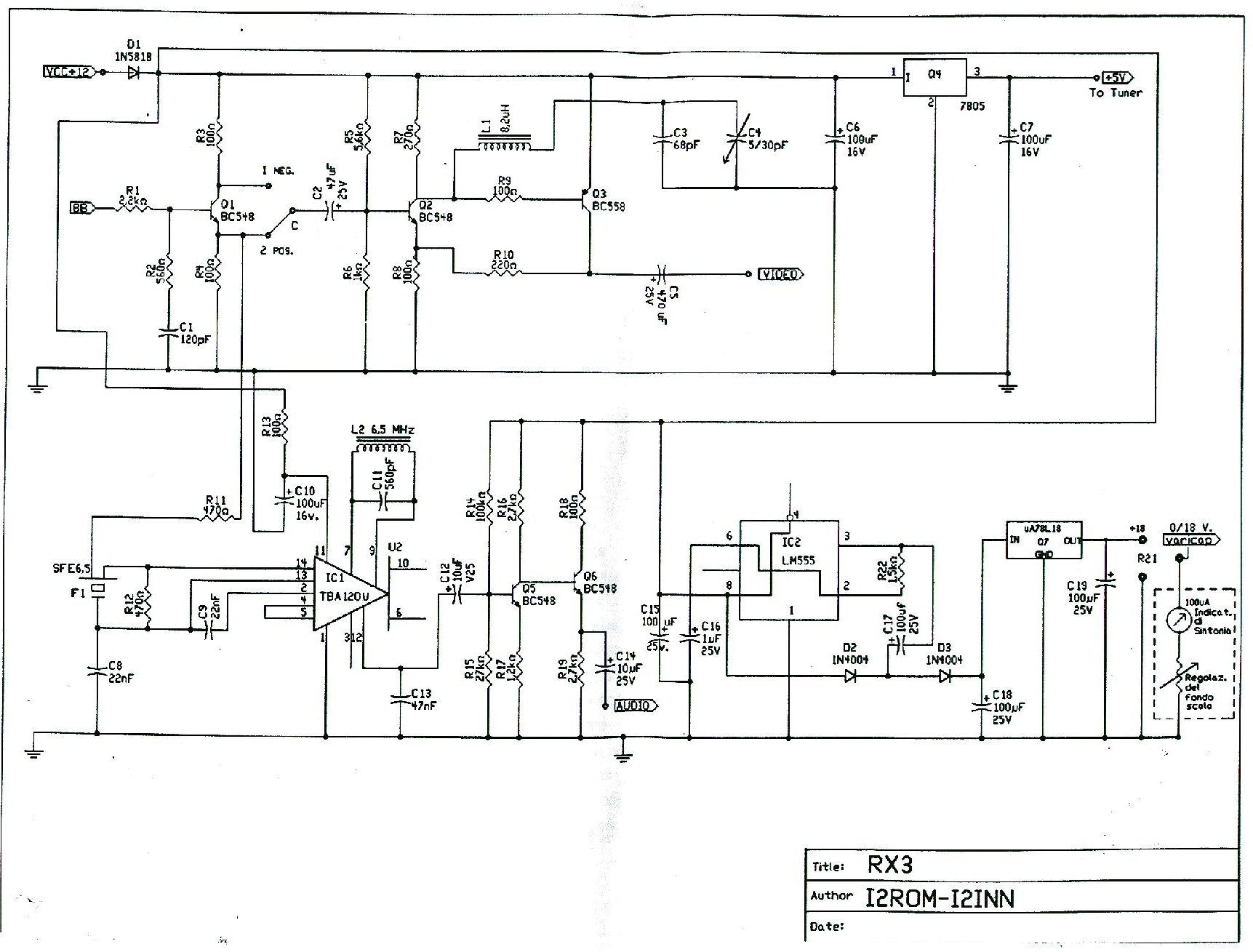 Ricevitore Atv 1240 Mhz By I2rom Team 7805 Schema